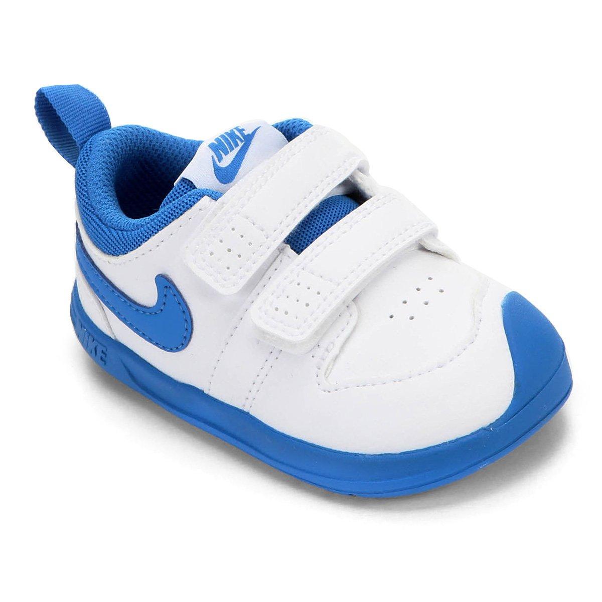 Murmullo caravana ignorancia  Tênis Infantil Nike Pico 5 - Branco e Azul | Netshoes
