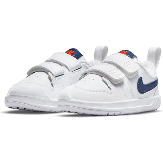 Tênis Infantil Nike Pico 5 - Branco+Marinho