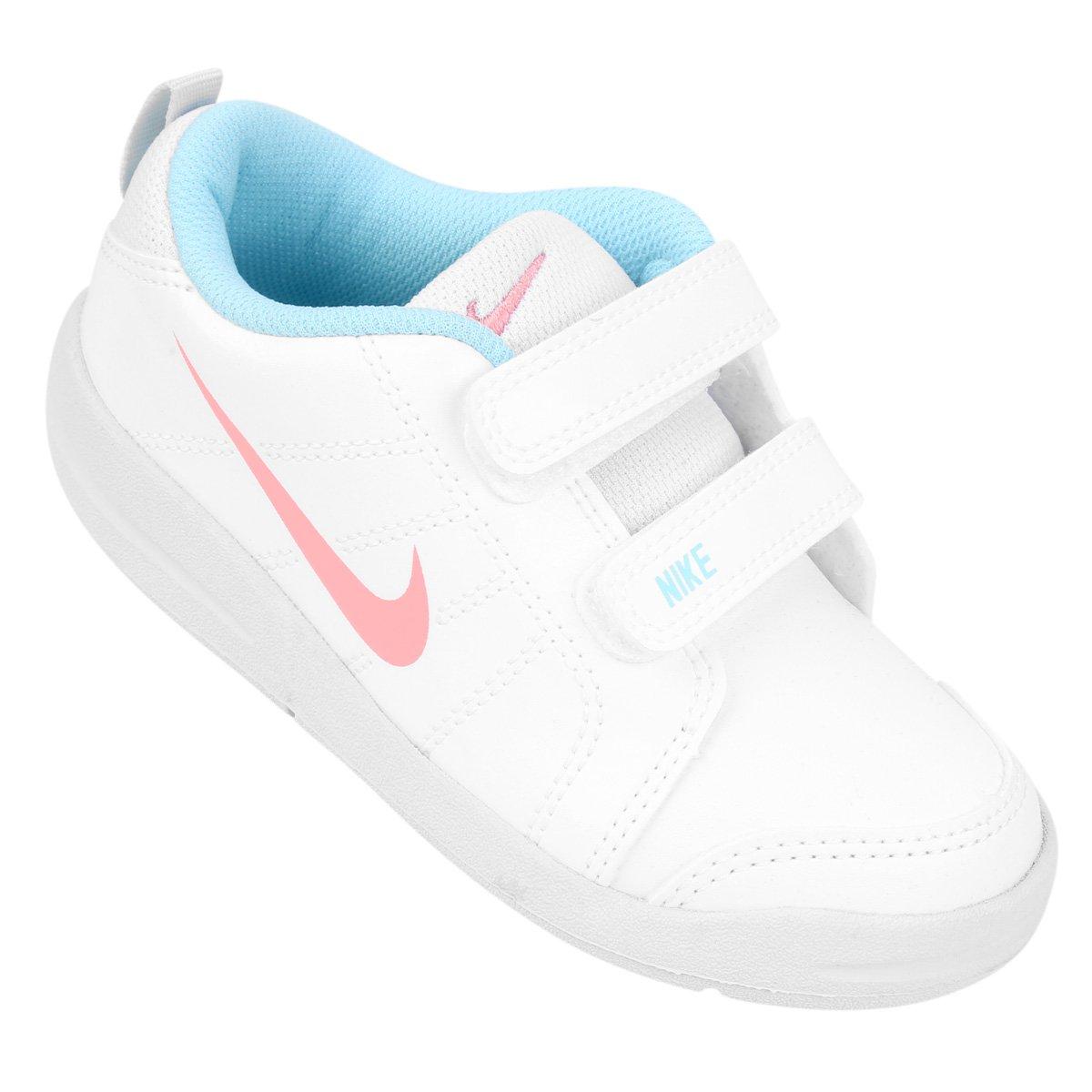 301dfcfa3a4 Tênis Infantil Nike Pico Lt - Branco e Azul Claro - Compre Agora ...