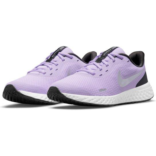 Tênis Infantil Nike Revolution 5 - Lilás+Cinza