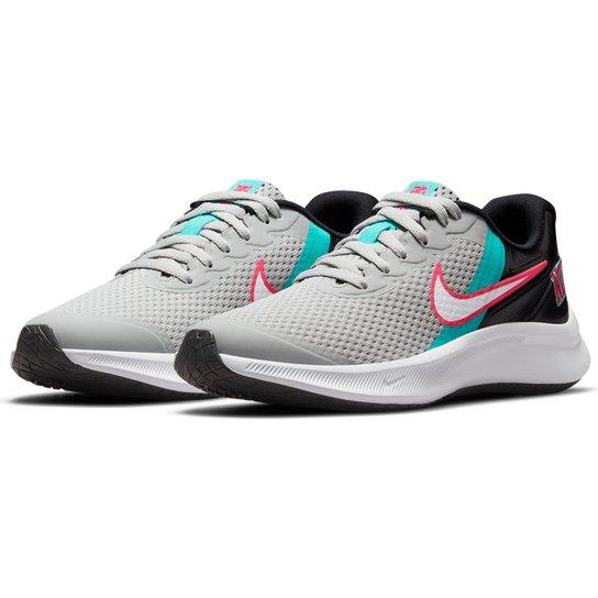 Tênis Infantil Nike Star Runner 3 Se Gg Feminino - Cinza+Branco