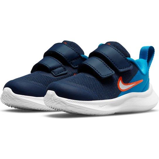 Tênis Infantil Nike Star Runner 3 Tdv - Marinho+Azul