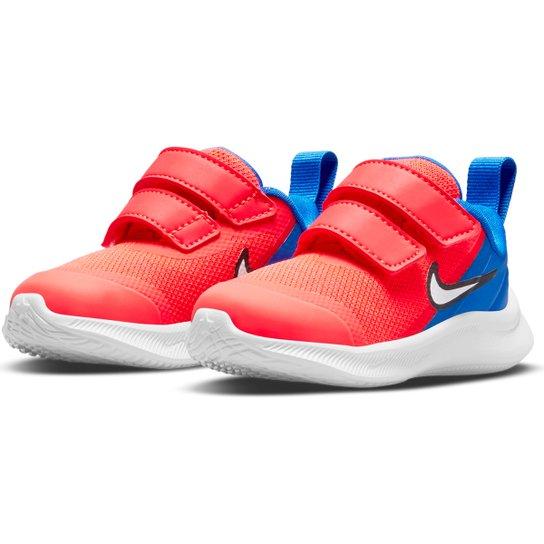 Tênis Infantil Nike Star Runner 3 Tdv - Salmão+Branco