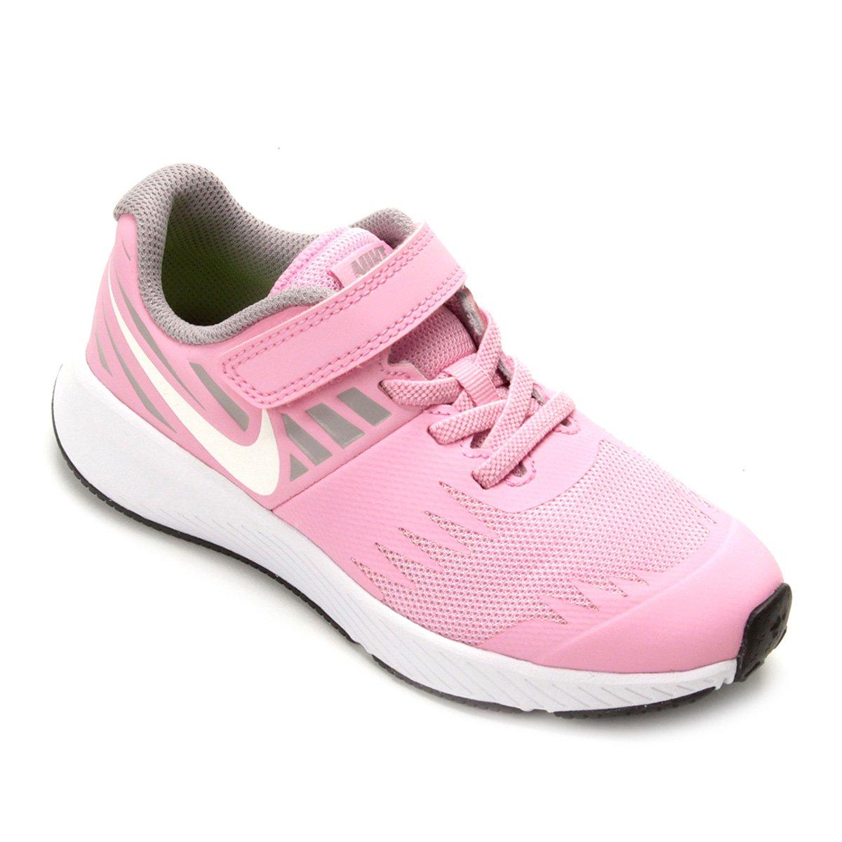 Tênis Infantil Nike Star Runner Feminino Rosa E Cinza