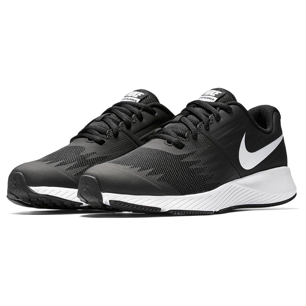 7bc9dae6aa Tênis Infantil Nike Star Runner GS - Preto e Branco - Compre Agora ...