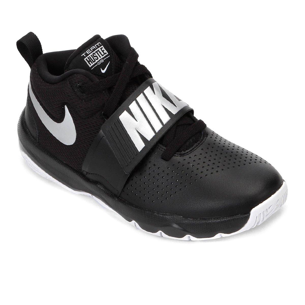 ee631c43823 Tênis Infantil Nike Team Hustle D 8 Masculino - Preto e Prata ...
