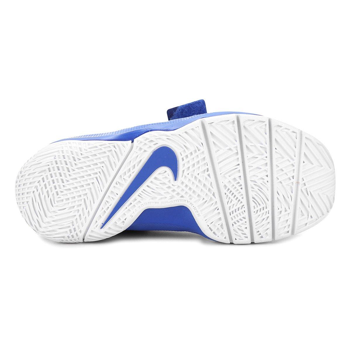 b0363ff53 Tênis Infantil Nike Team Hustle D 8 Masculino - Azul Royal e Preto ...