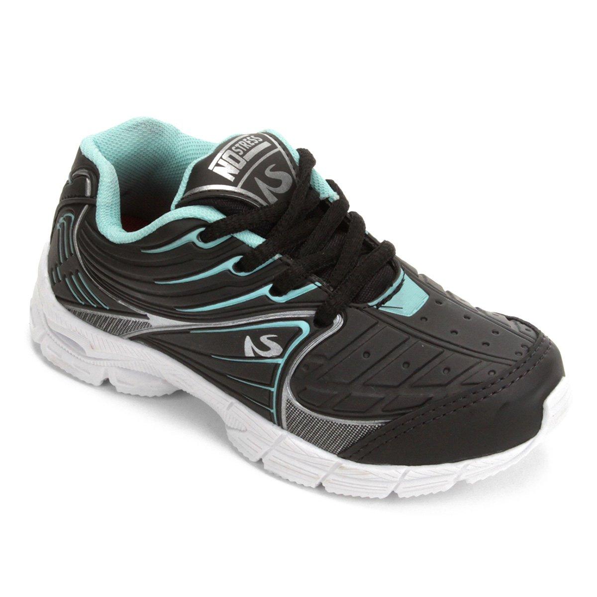 70d8d8d88c4 Tênis Infantil No Stress Jogging Masculino - Preto e verde - Compre Agora
