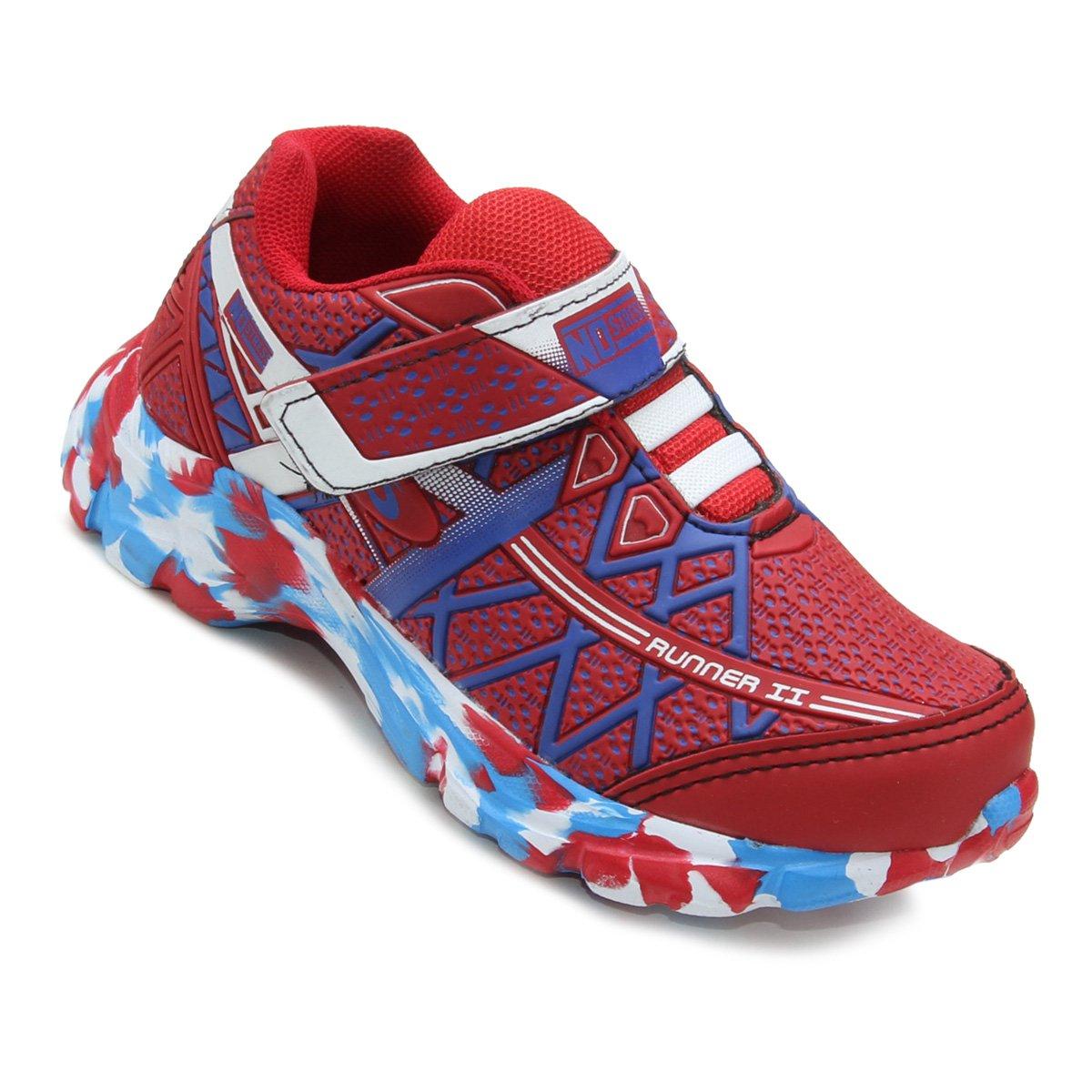 3cdb608132b Tênis Infantil No Stress Running Masculino - Vermelho - Compre Agora ...