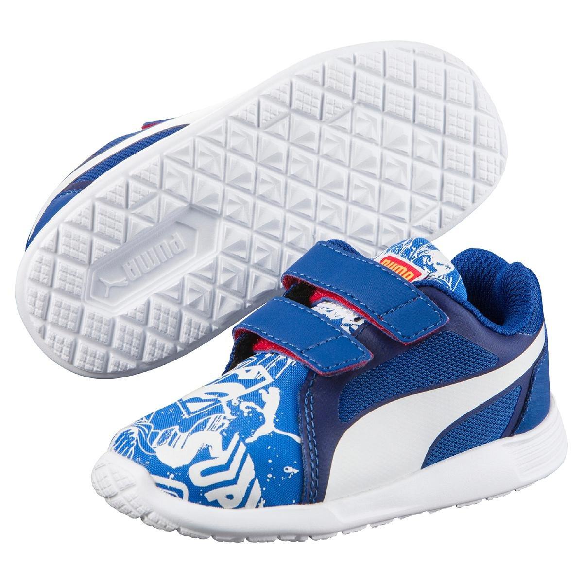 e0a32a56f Tênis Infantil Puma St Trainr Evo Superman V - Azul e Branco | Netshoes