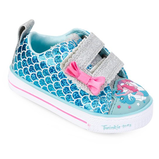 Tênis Infantil Skechers Shuffle Lite-Mermaid Parade Feminino - Azul