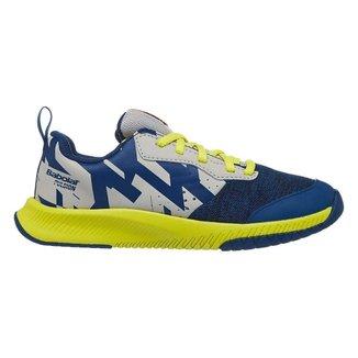 Tênis Junior Pulsion All Court Azul e Amarelo - Babolat