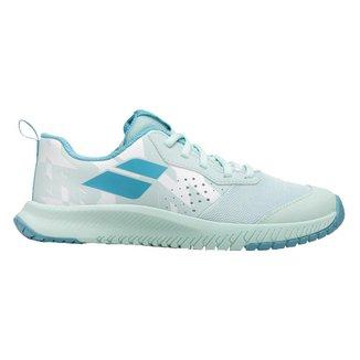 Tênis Junior Pulsion All Court Branco e Azul - Babolat