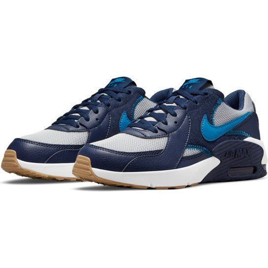 Tênis Juvenil Nike Air Max Excee - Cinza+Azul