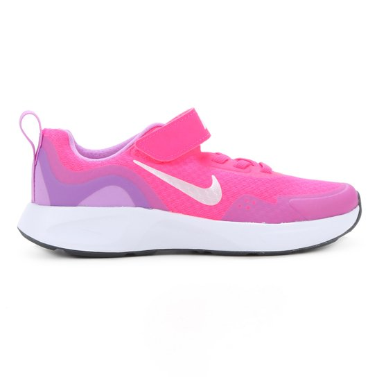 Tênis Juvenil Nike Wearallday BP Masculino - Rosa+Branco