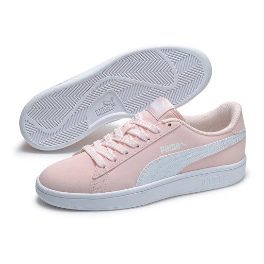 Tênis Juvenil Puma Smash V2 - Pink