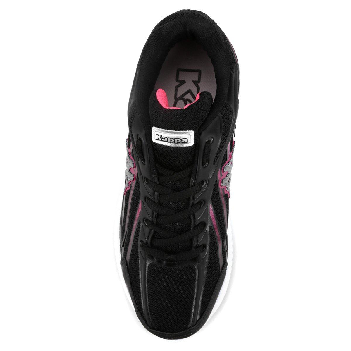 Tênis Preto e Tênis Kappa Pink Kappa Feminino Sicília 1Xr1Yq