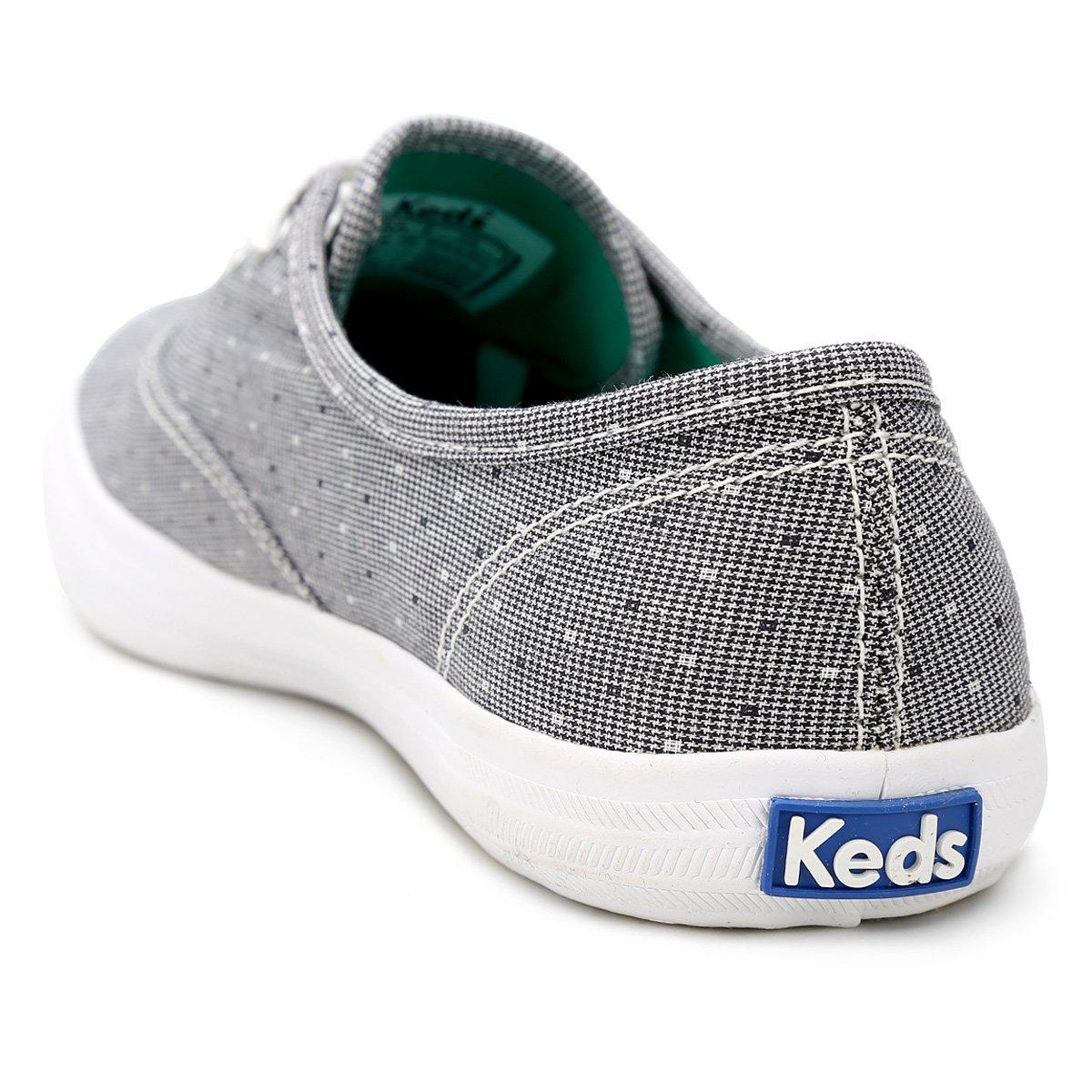 80e4e3f0ed3 Tênis Keds Champion Tramado Feminino - Preto e Branco - Compre Agora ...