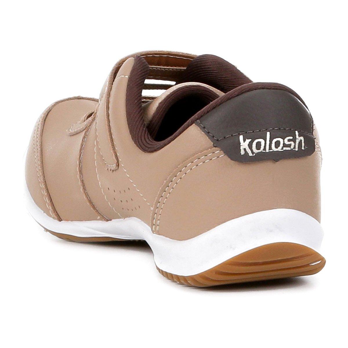 Kolosh Velcro Tênis Feminino Kolosh Tênis Cadarço Bege wp7xEI