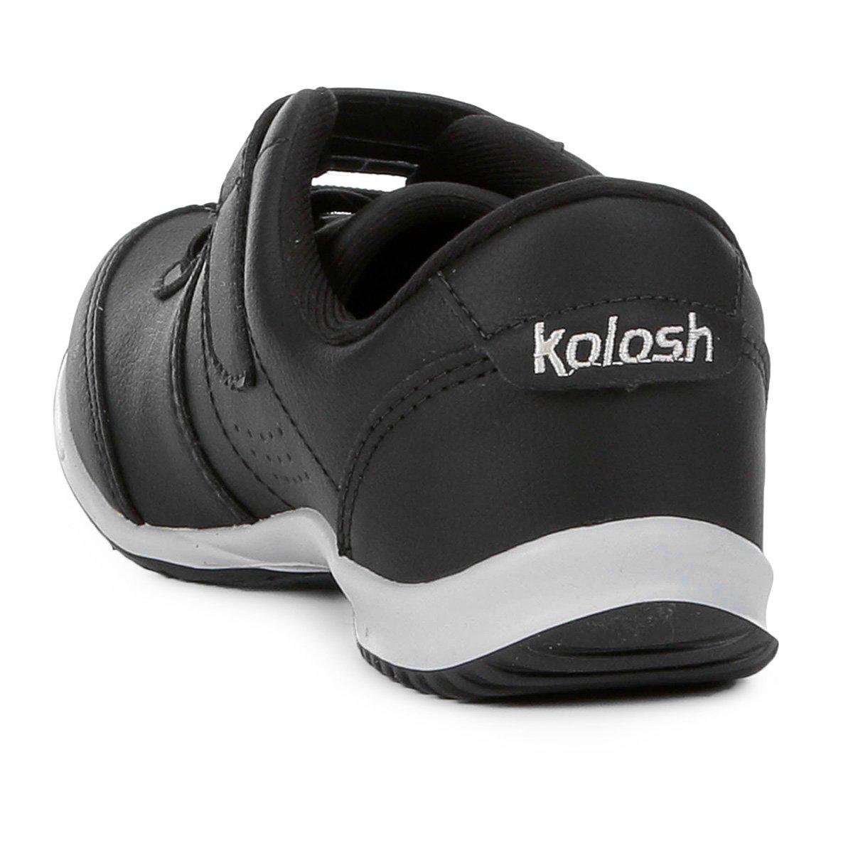 Kolosh Feminino Velcro Cadarço Tênis Tênis Kolosh Preto qxn4HRE