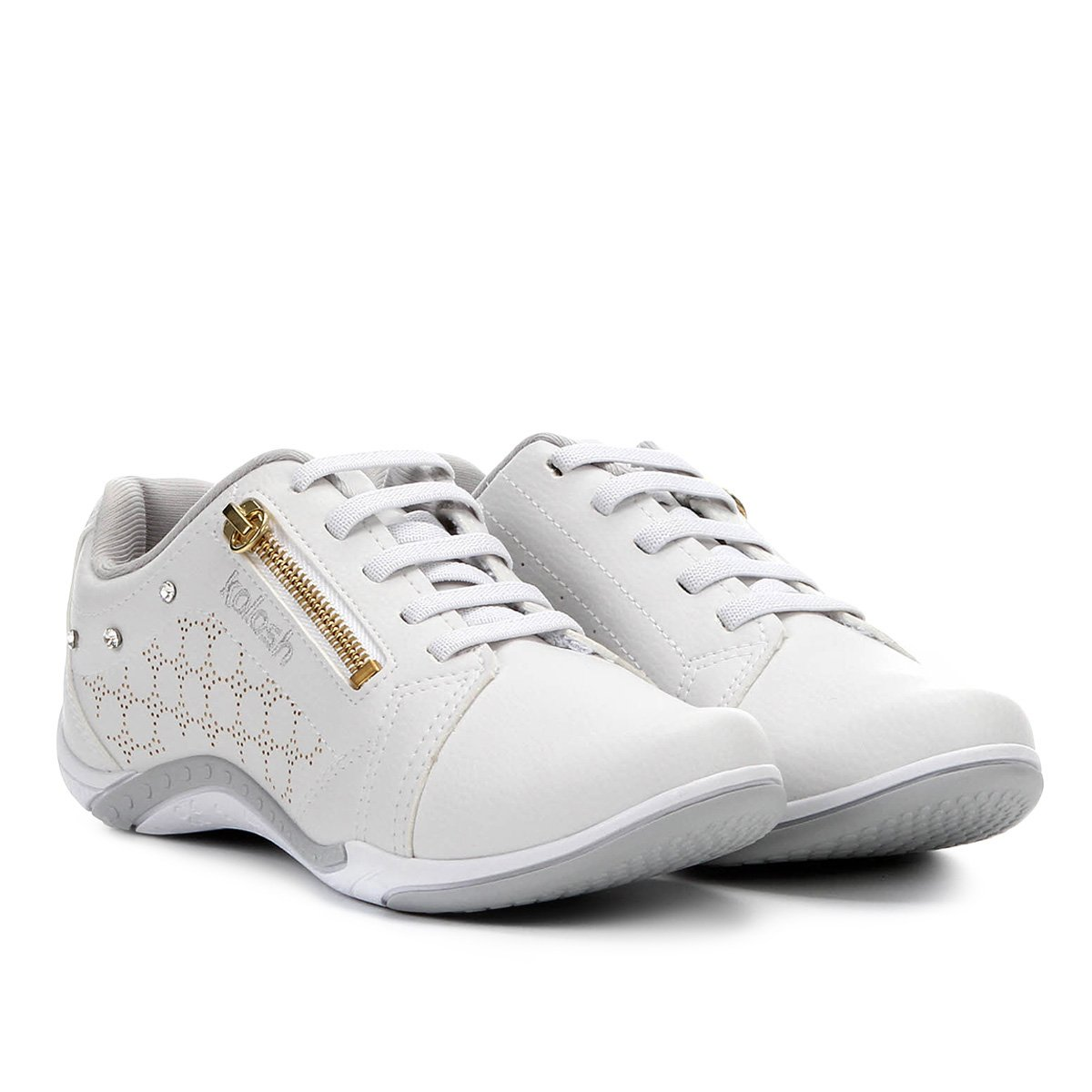2d158c856e7 Tênis kolosh zíper strass feminino branco compre agora netshoes jpg 544x544 Tenis  feminino kolosh
