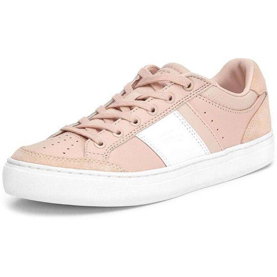 Tênis Lacoste Courtline Feminino - Rosa+Branco