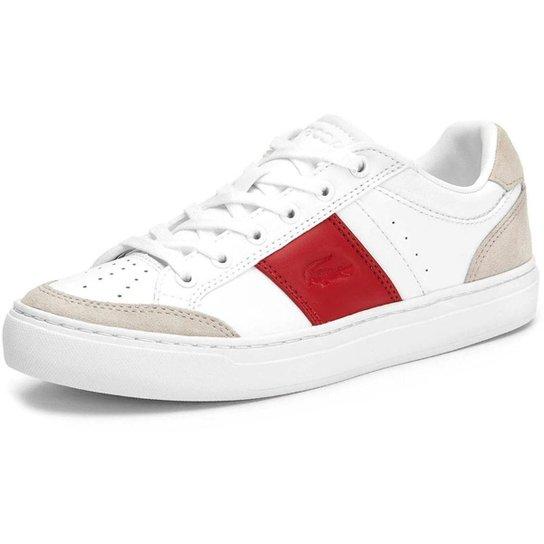 Tênis Lacoste Courtline Feminino - Branco+Vermelho