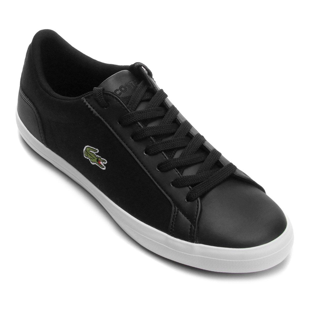 Tênis Lacoste Lerond 316 Masculino - Preto - Compre Agora   Netshoes 0f3ae6e223