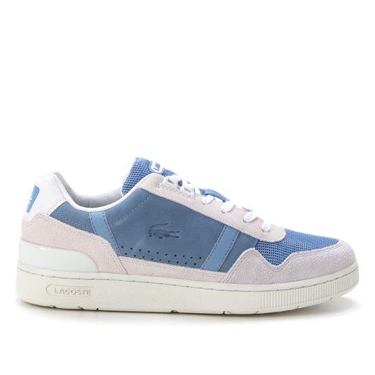 Tênis Lacoste T-Clip Masculino - Off White+Azul