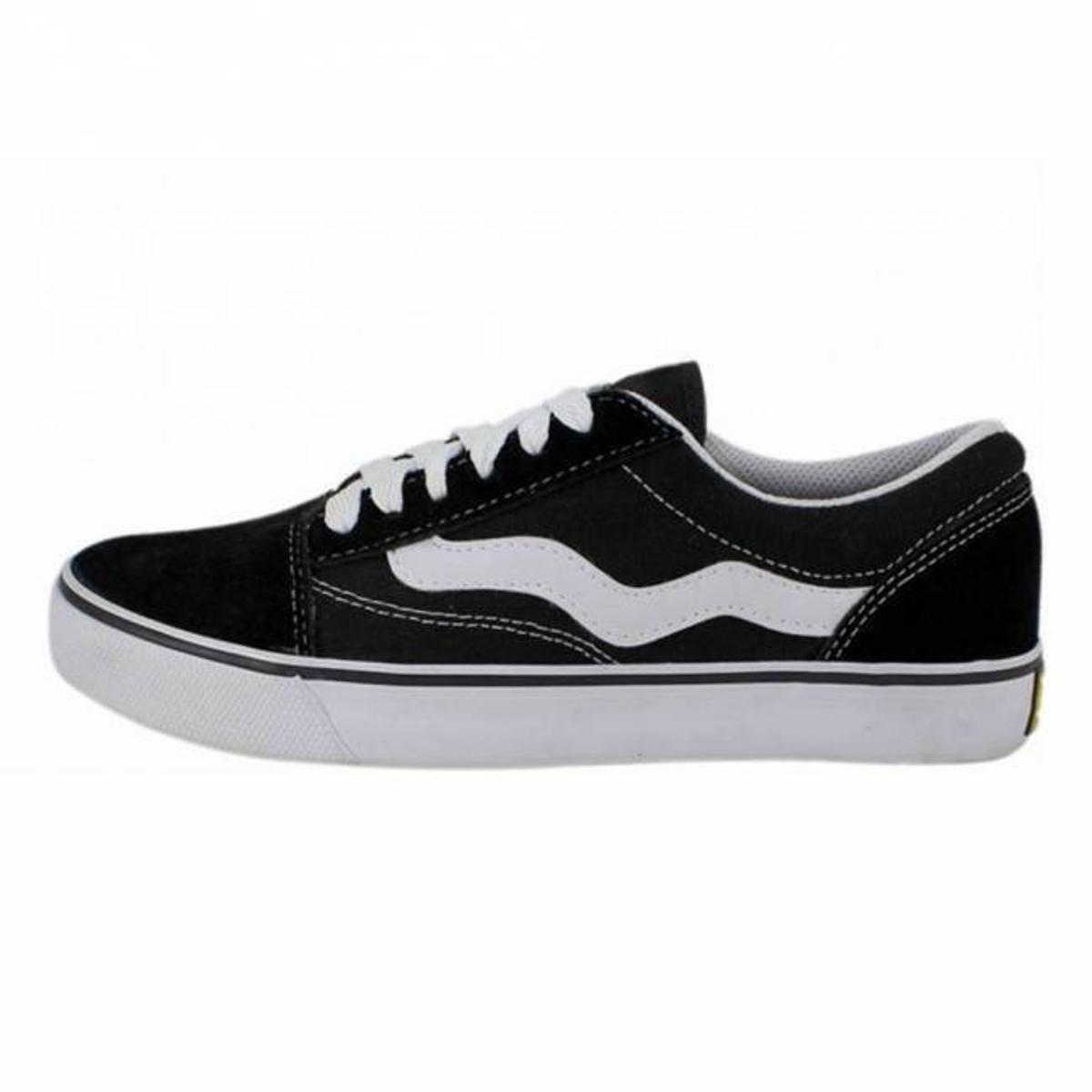 Tênis Mad Rats Old School Lona - Preto e Branco - Compre Agora ... 74f6e88aa36
