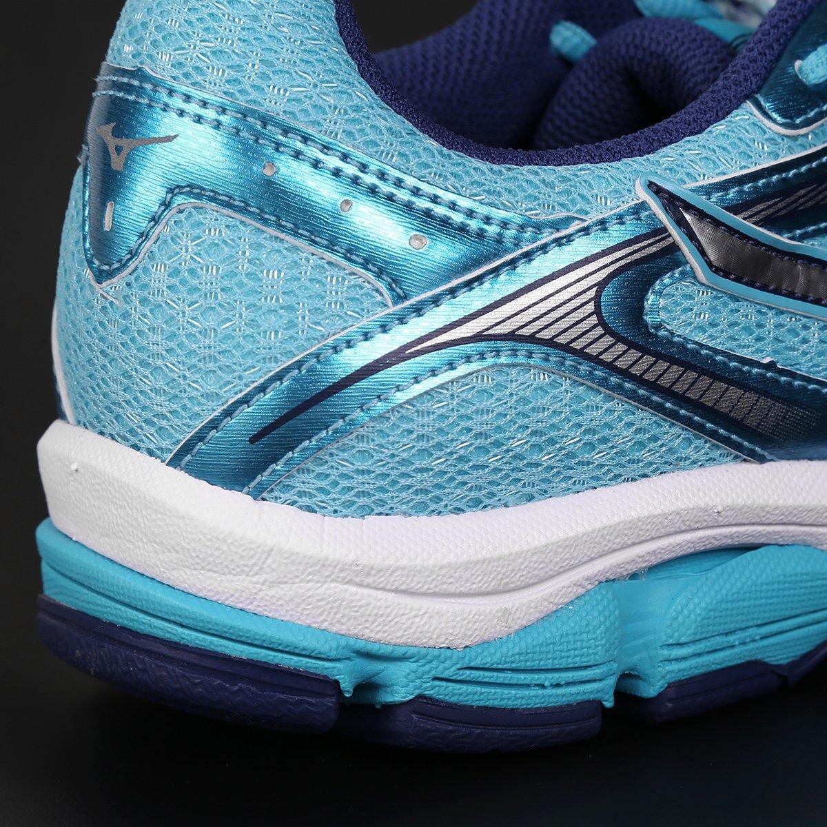 Tênis Mizuno Wave Impetus 4 Feminino - Azul Claro e Marinho - Compre ... f02ff9ff22ca9