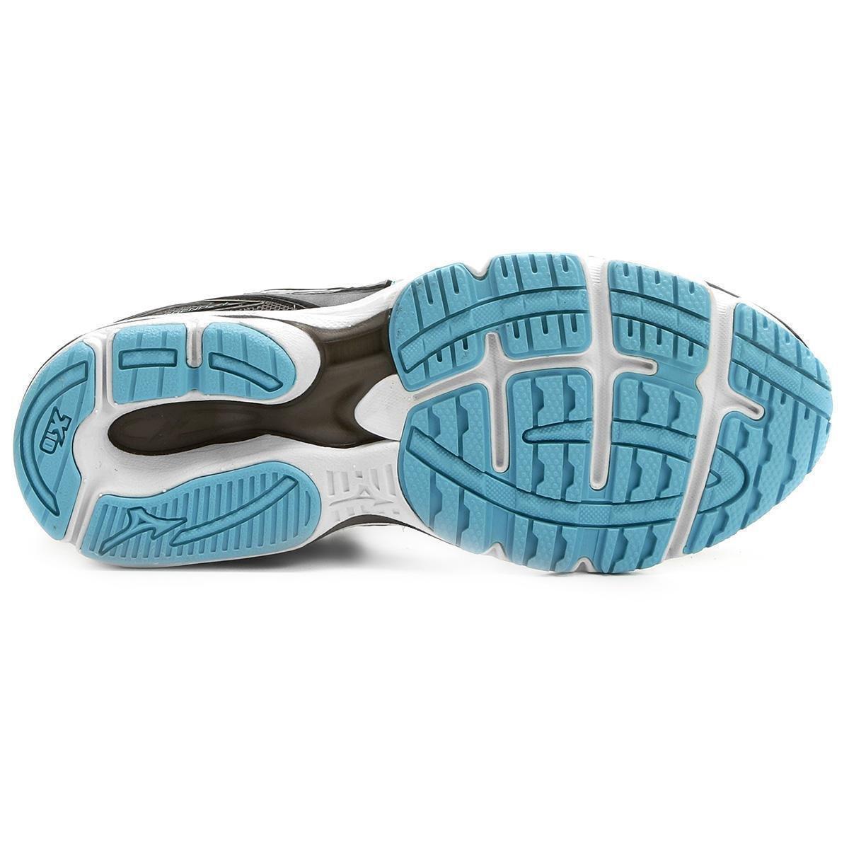Tênis Mizuno Wave Legend 4 P Feminino - Preto e Azul - Compre Agora ... 24063a10cd928