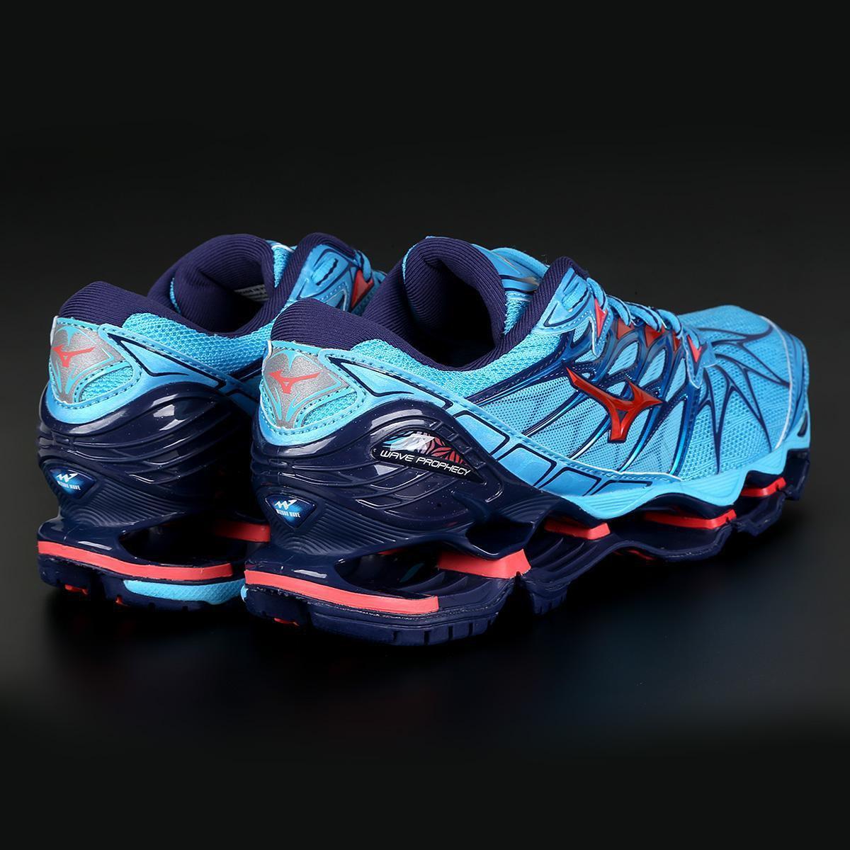 ad027eacd2 Tênis Mizuno Wave Prophecy 7 Feminino - Azul e Rosa - Compre Agora ...