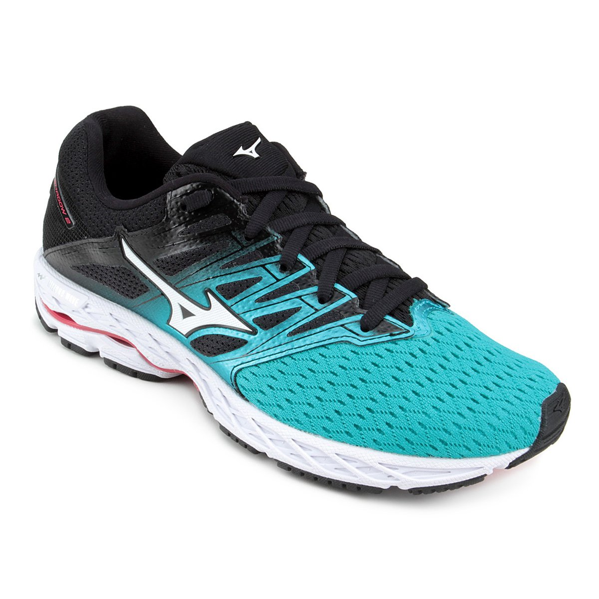 on sale 1adb0 ece71 Tênis Mizuno Wave Shadow 2 Feminino - Verde e Preto