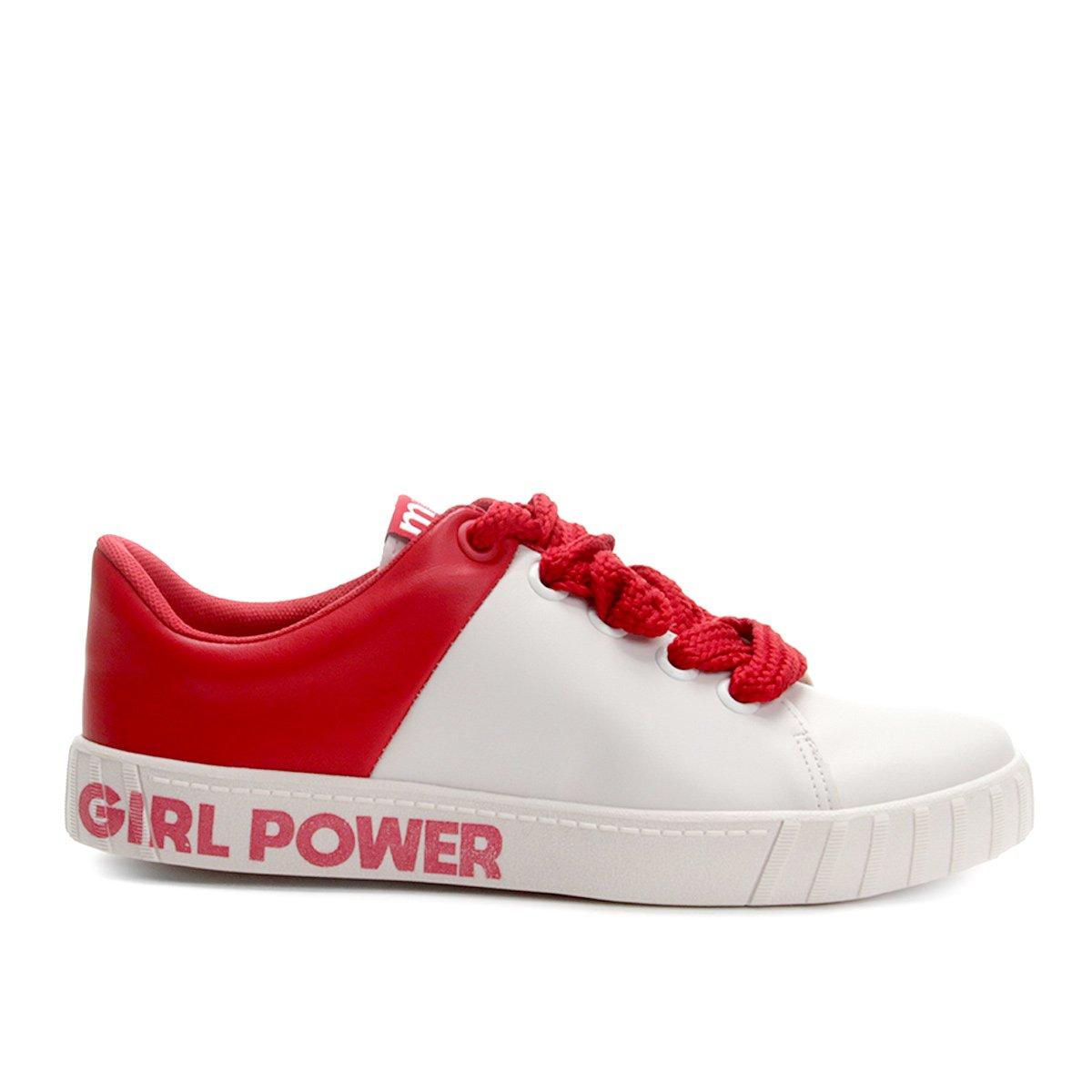 Tênis Girl Tênis Branco Power Moleca Branco Feminino Girl Feminino e Moleca Power Vermelho 1wZqXAB
