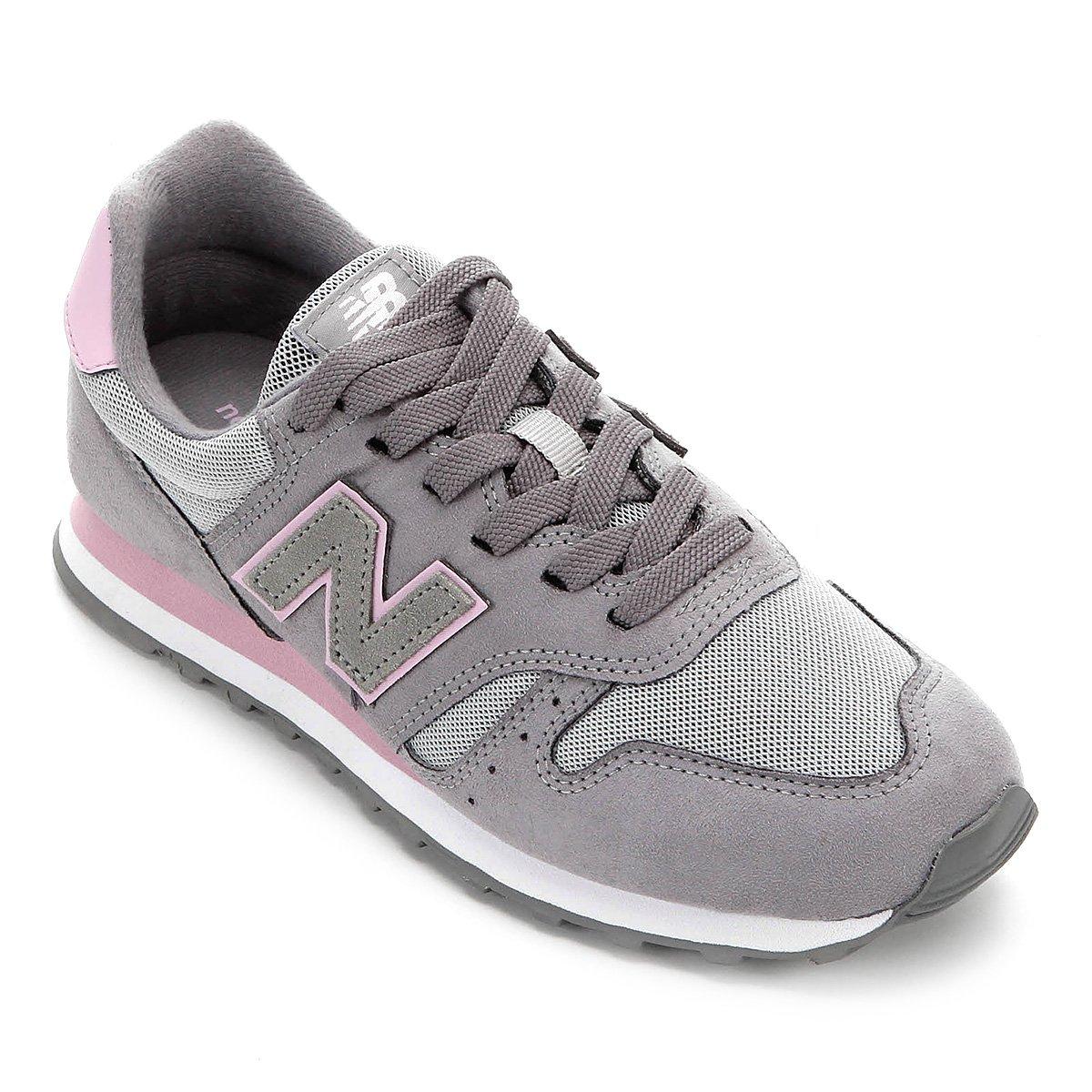 tenis new balance feminino cinza e rosa