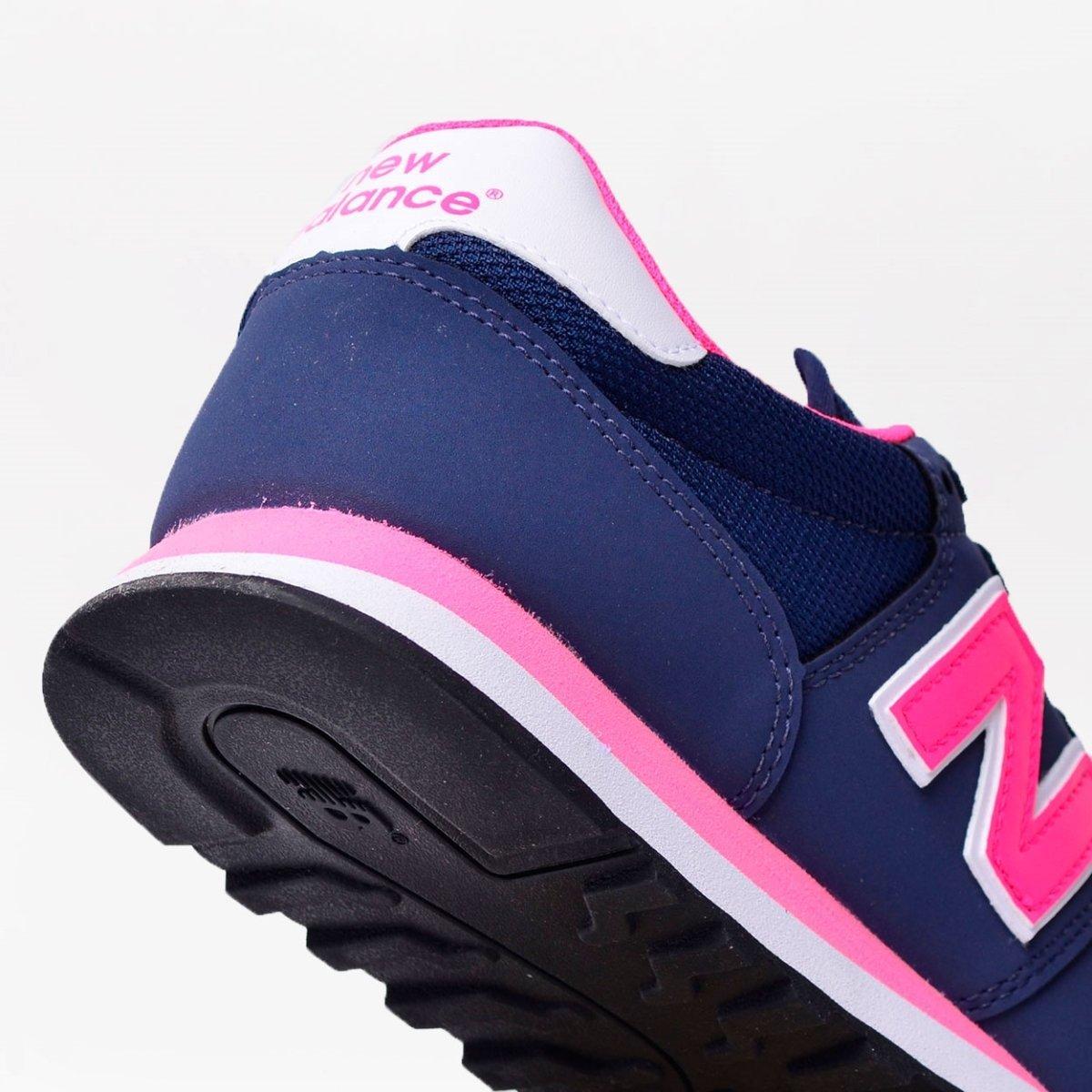 495ea0b132a Tênis New Balance 500 Marinho Rosa GW500NWP - Compre Agora