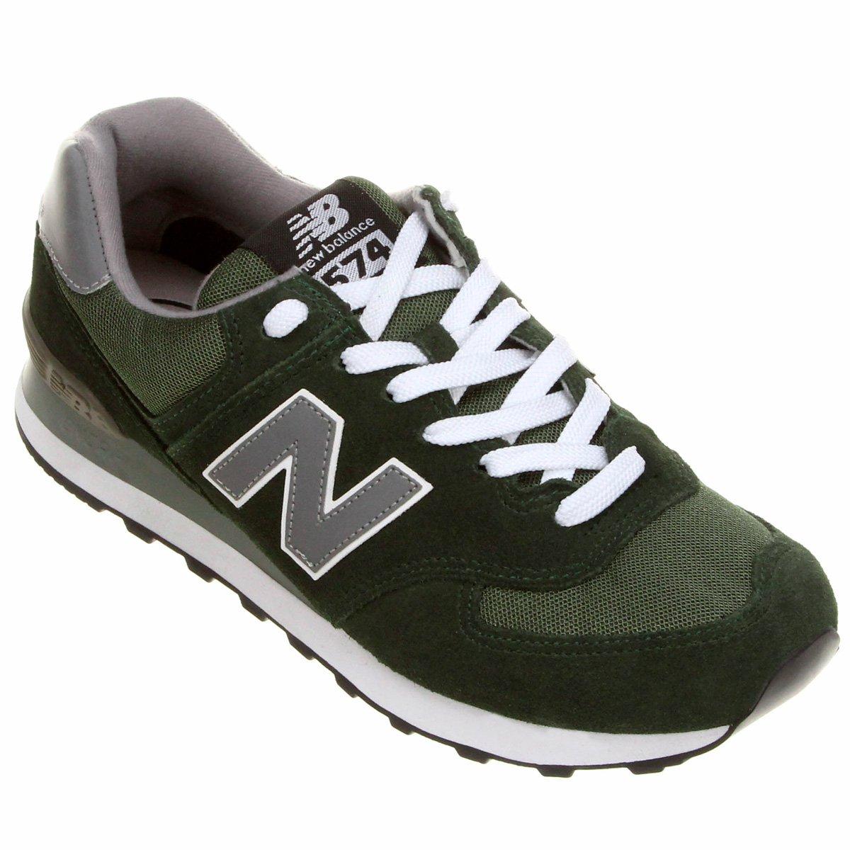 new balance verde e branco