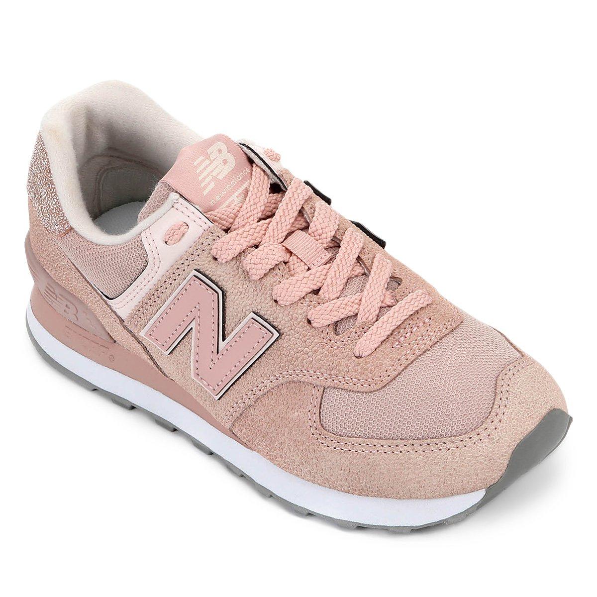 new balance 574 verde e rosa