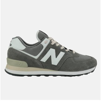 Tênis New Balance 574 Masculino - Cinza+Branco - 41