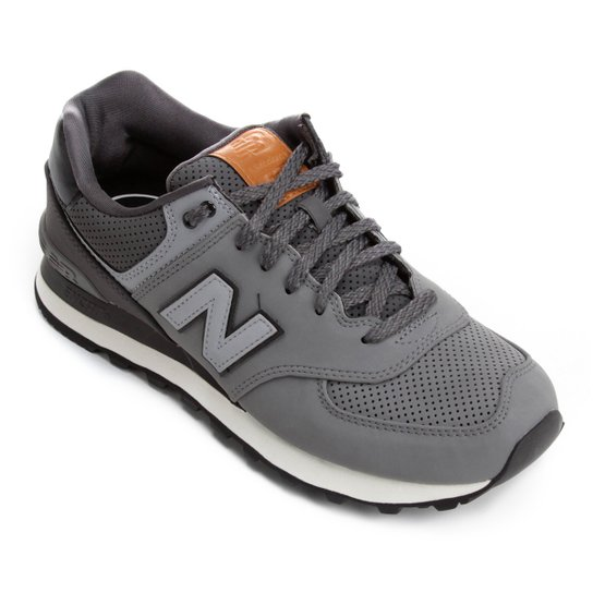 Tênis New Balance 574 Masculino - Cinza+Preto
