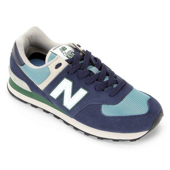 Tênis New Balance 574 Masculino - Marinho+Branco