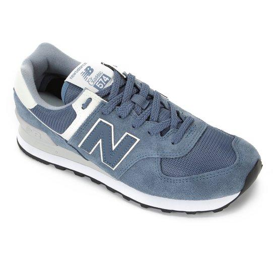 Tênis New Balance 574 Masculino - Azul+Branco