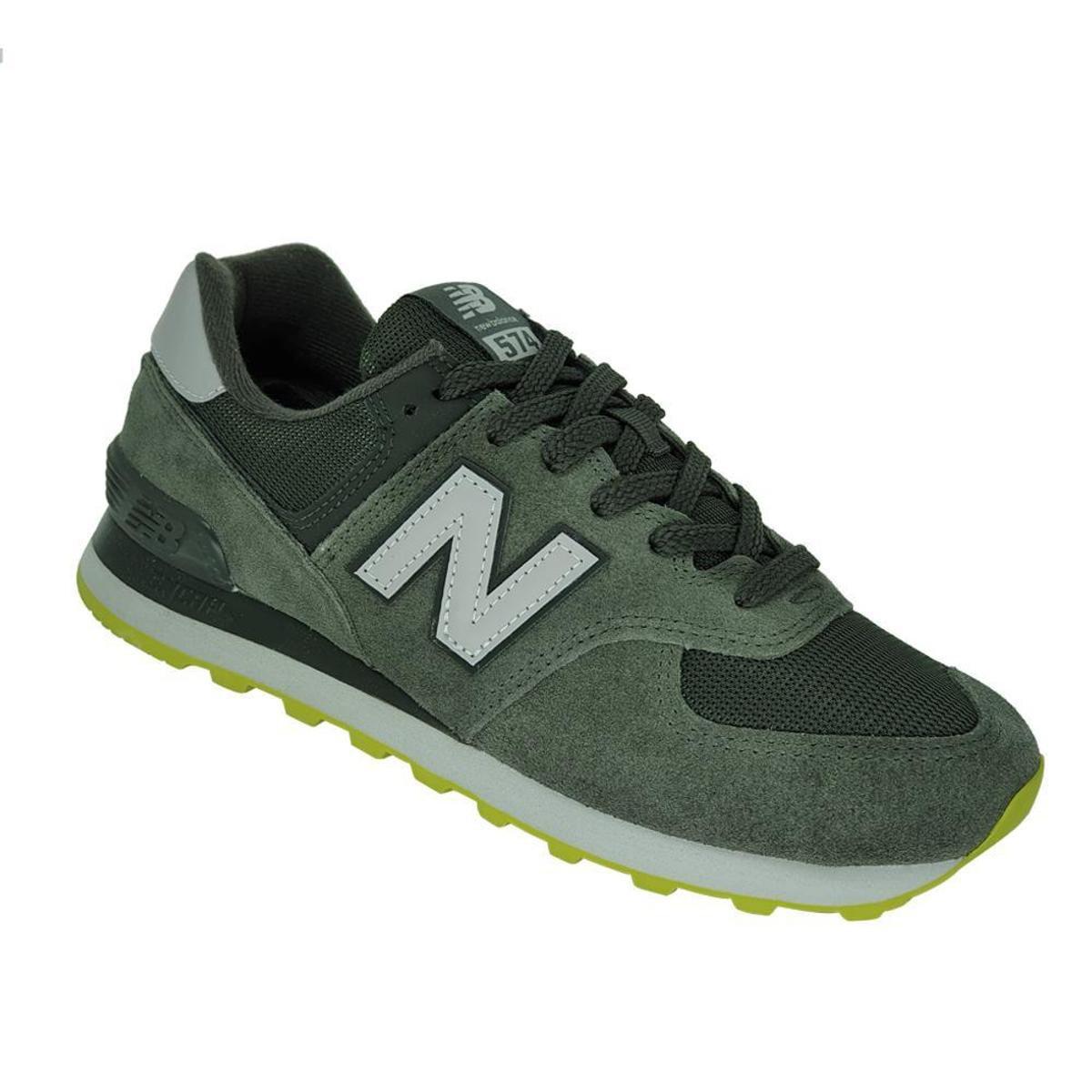 Tênis New Balance 574 Masculino - Verde   Netshoes