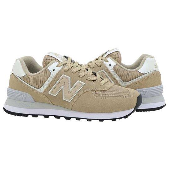 Tênis New Balance 574 Masculino - Bege+Branco