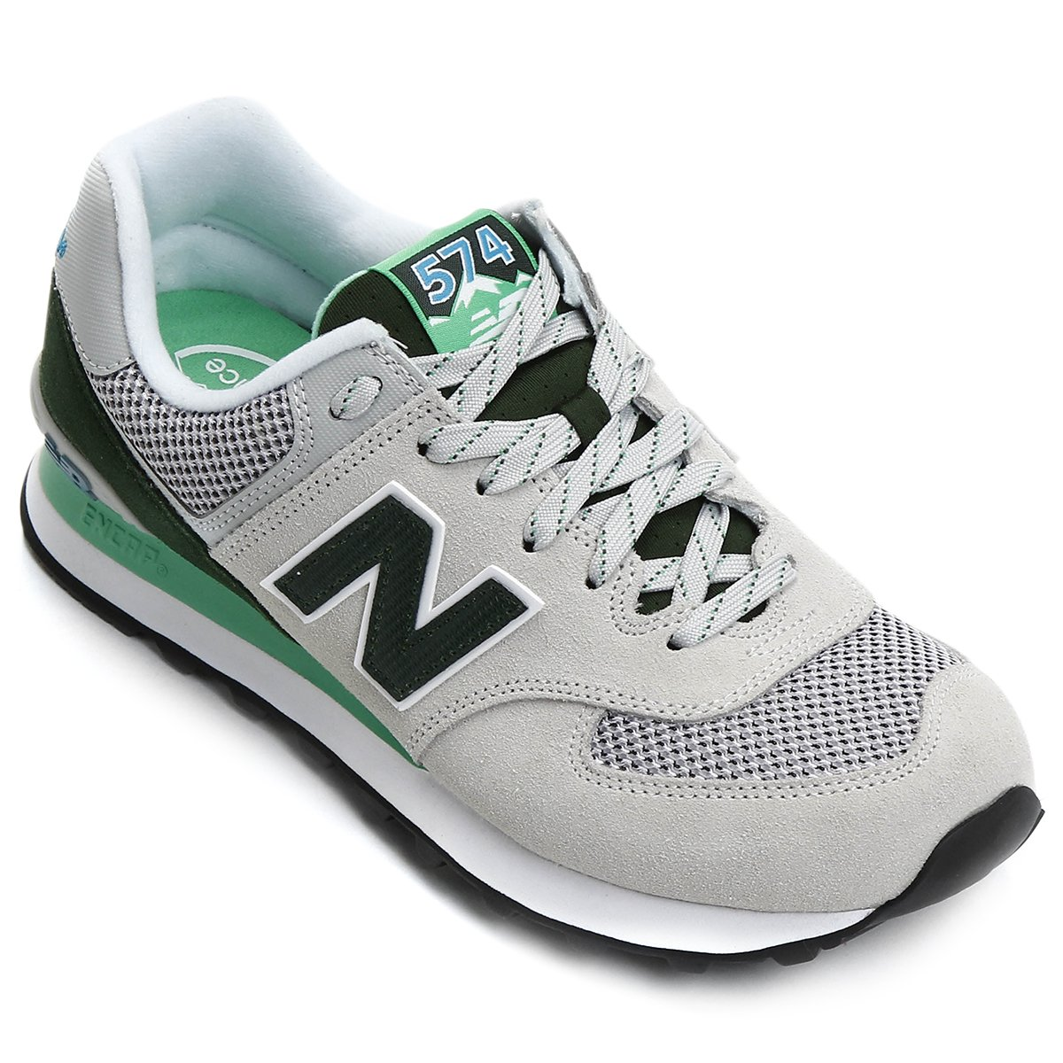 new balance 574 cinza verde