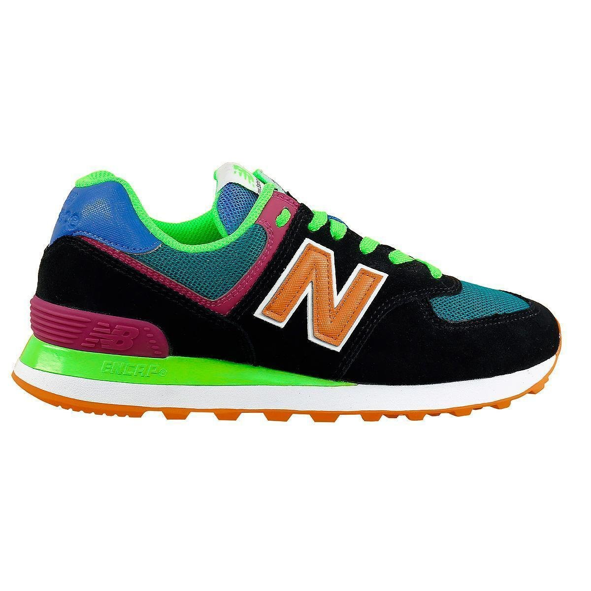 Tênis New Balance 574 - Preto Verde Limão | Netshoes