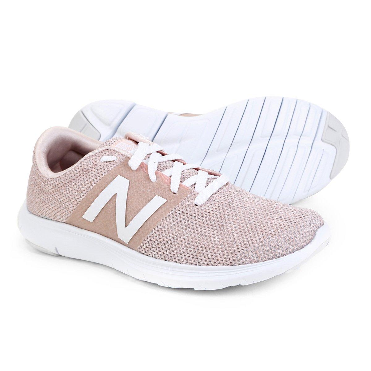 best sneakers e1ca5 ebcf1 Tênis New Balance Koze Feminino - Rosa e Branco