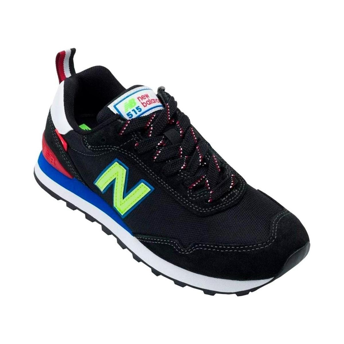 Tênis New Balance Masculino 515 - Preto verde   Esperanza