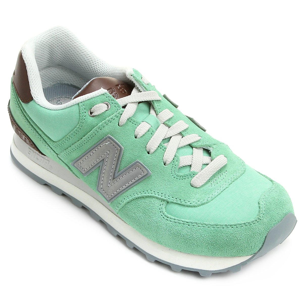 Tênis New Balance WL574 - Azul Verde Água | Netshoes